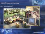 nhs direct call centres