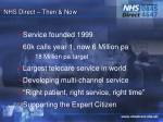 nhs direct then now