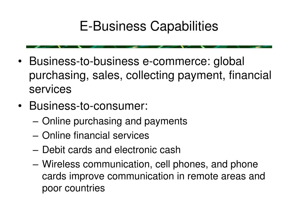 E-Business Capabilities