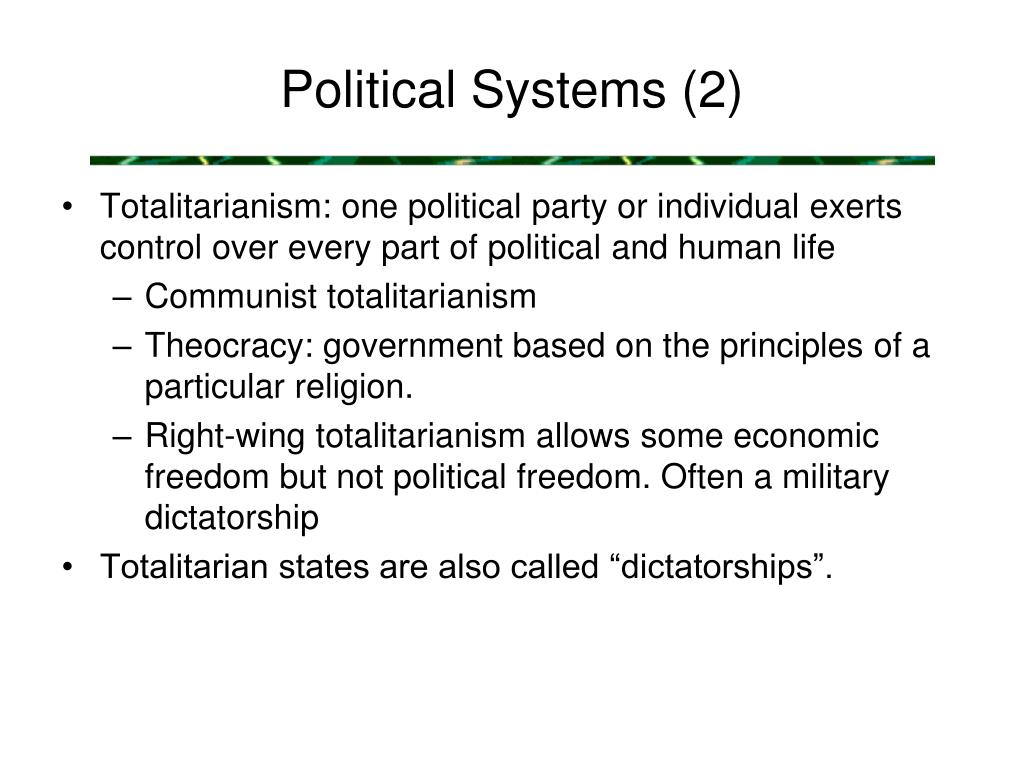 Political Systems (2)
