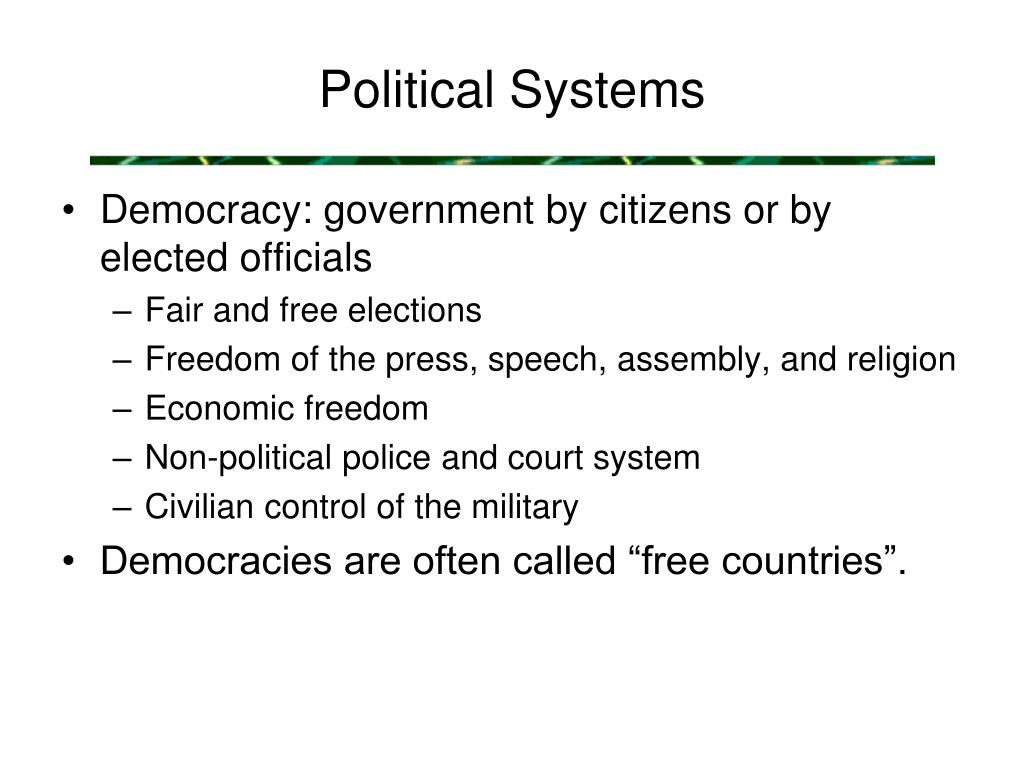 Political Systems
