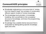 commonkads principles