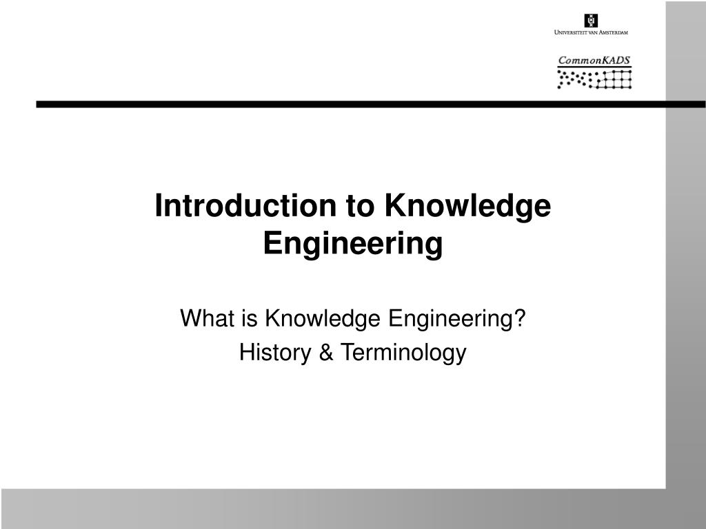 introduction to knowledge engineering l.