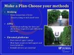 make a plan choose your methods