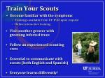 train your scouts