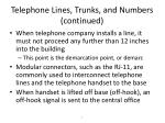 telephone lines trunks and numbers continued7