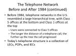 the telephone network before and after 1984 continued23