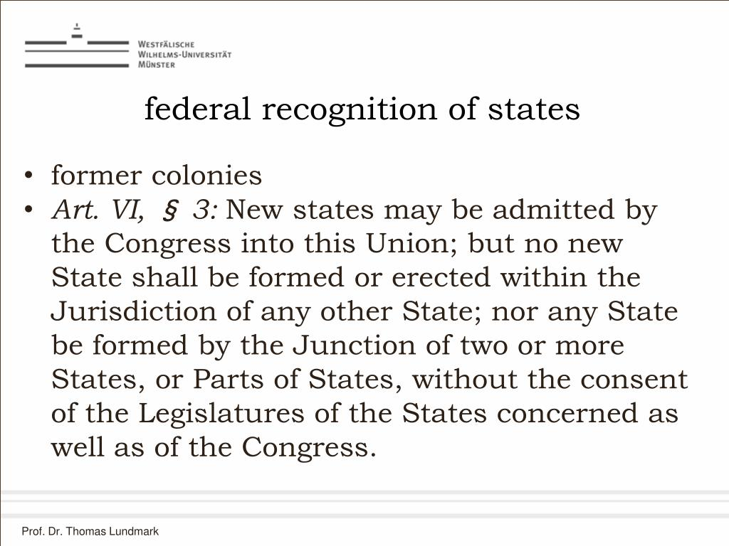 federal recognition of states