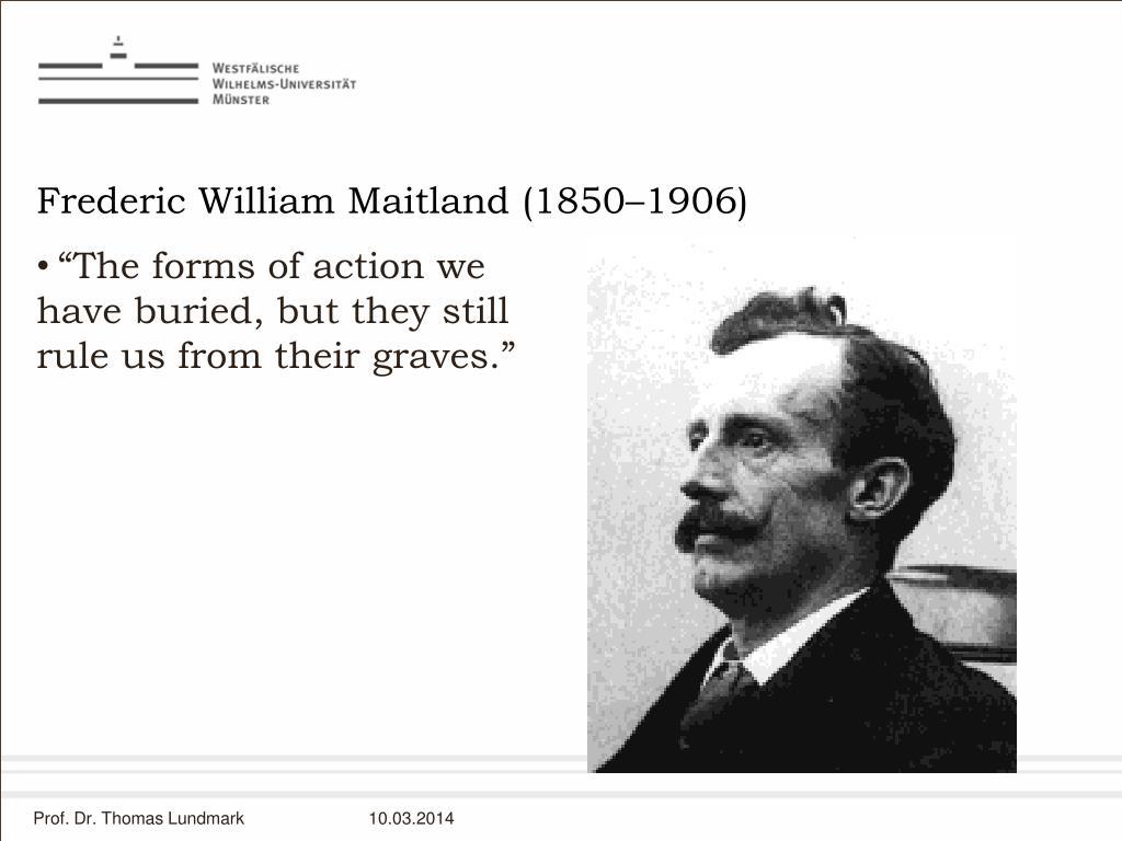 Frederic William Maitland (1850–1906)