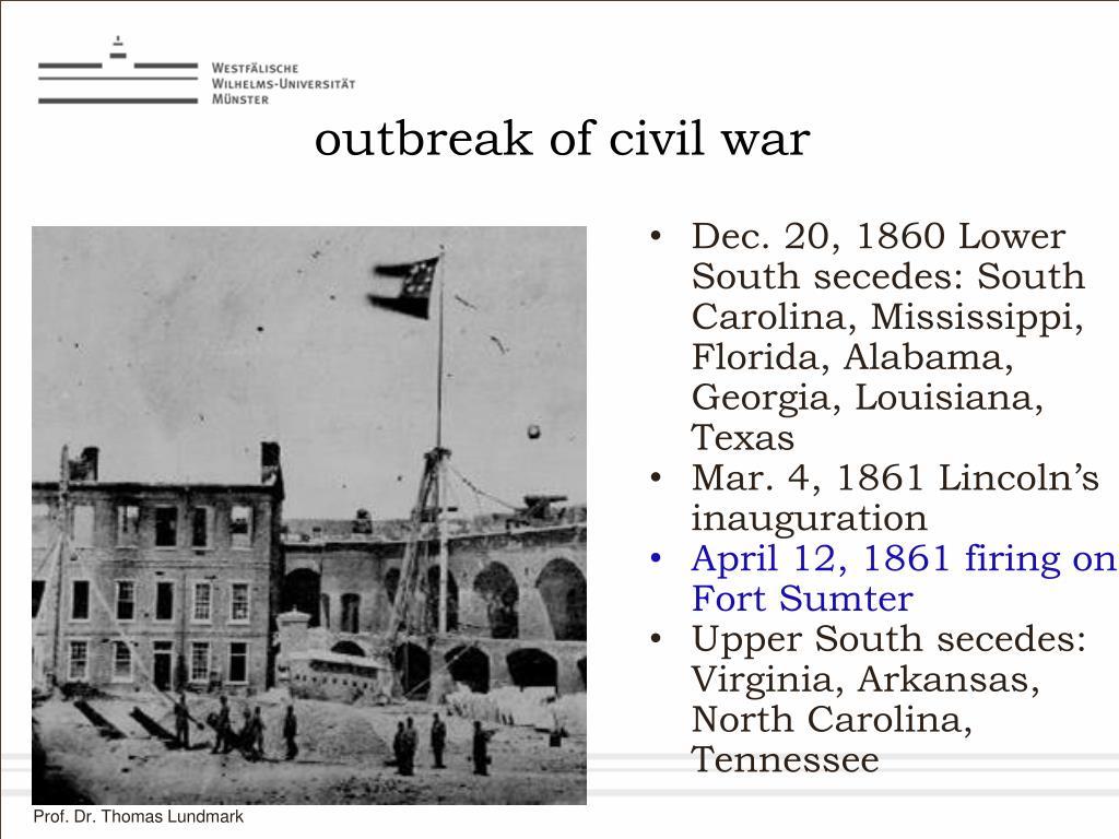 outbreak of civil war