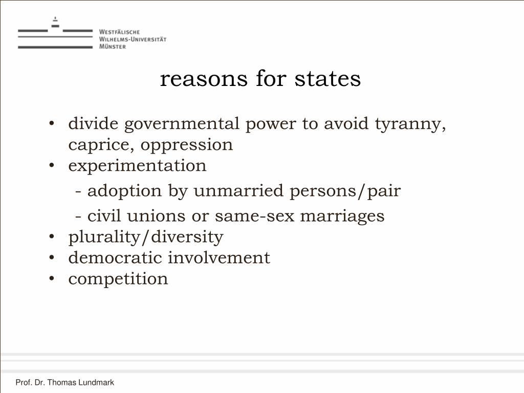 reasons for states