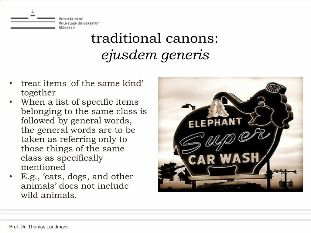traditional canons: