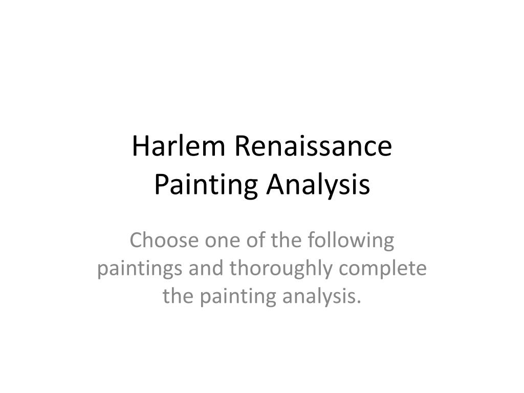 harlem renaissance painting analysis l.