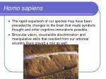 homo sapiens61