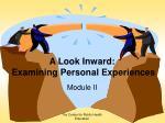 a look inward examining personal experiences