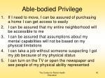 able bodied privilege
