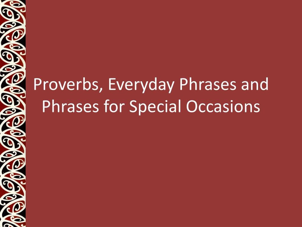 proverbs everyday phrases and phrases for special occasions l.