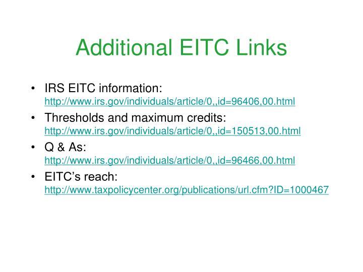 Additional eitc links