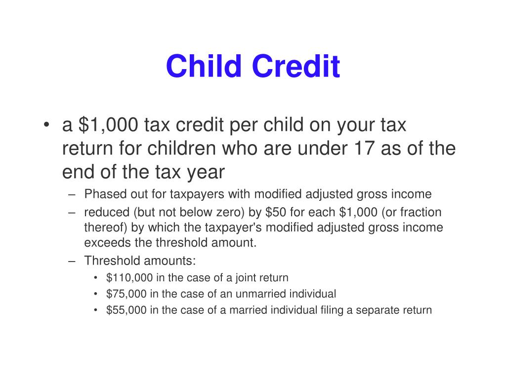 Child Credit