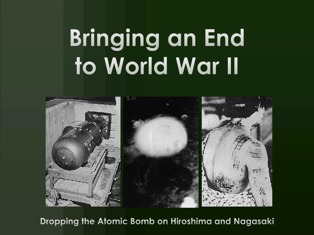 bringing an end to world war ii l.