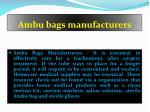 ambu bags manufacturers