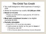 the child tax credit