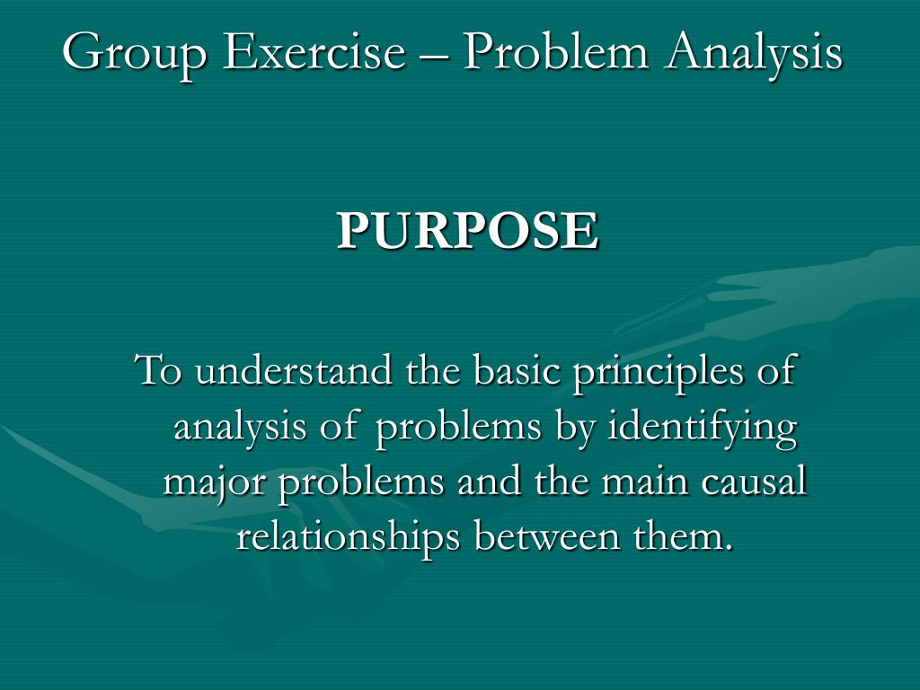 group exercise problem analysis l.