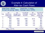 example 4 calculation of after tax cash flows