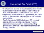 investment tax credit itc