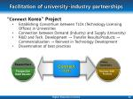 facilitation of university industry partnerships