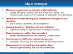 major strategies