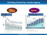 shrinking school pop amidst ageing