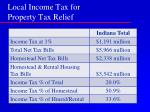 local income tax for property tax relief