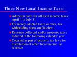 three new local income taxes10