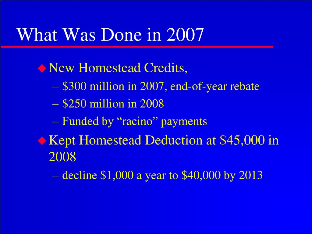 What Was Done in 2007