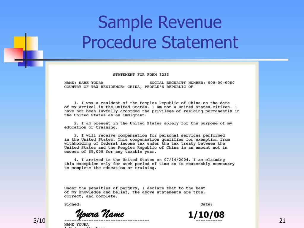 Sample Revenue