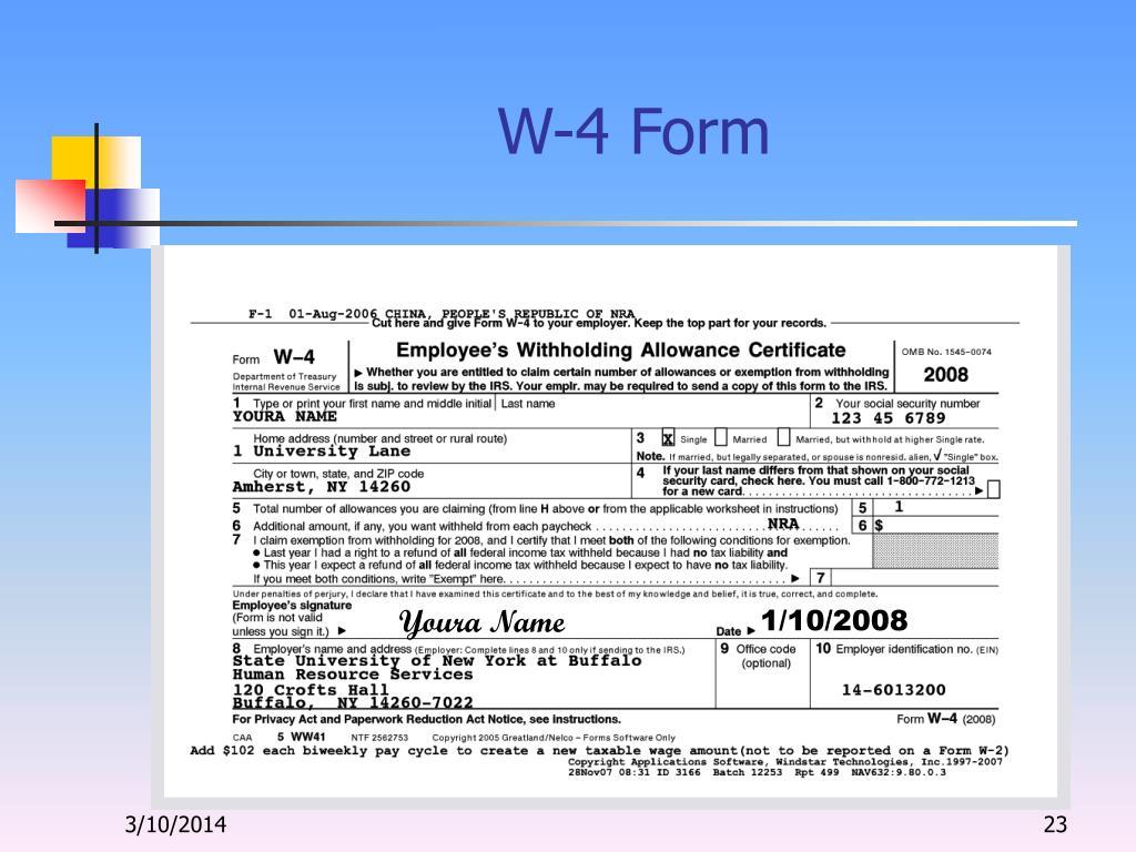 W-4 Form