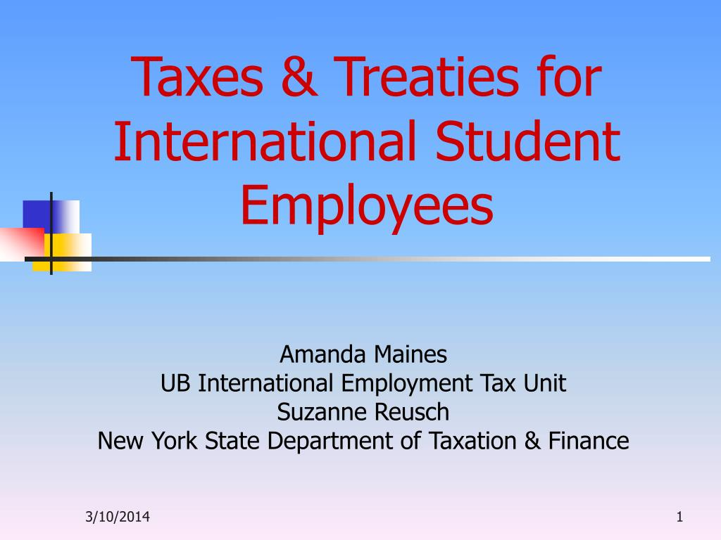 taxes treaties for international student employees l.