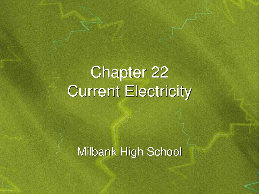 chapter 22 current electricity l.