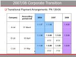 2007 08 corporate transition44