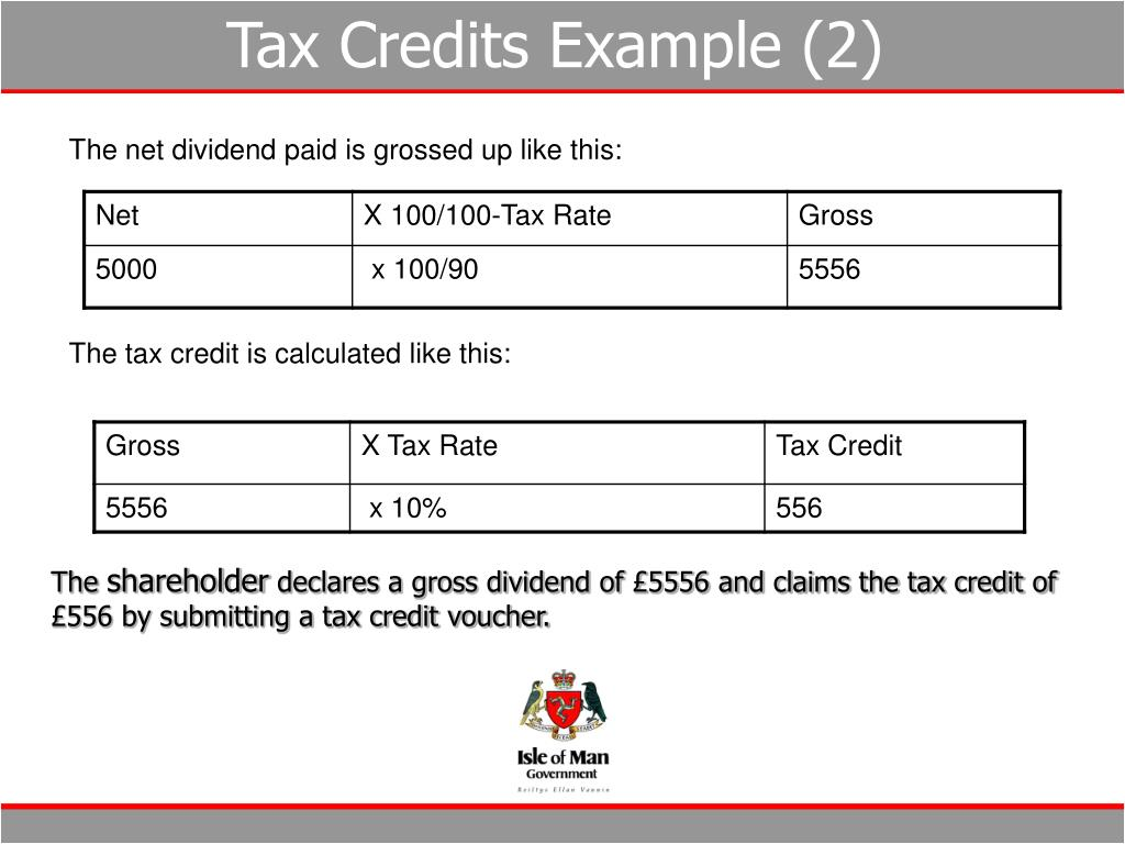 Tax Credits Example (2)