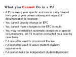 what you cannot do in a pj
