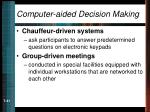 computer aided decision making