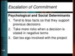 escalation of commitment25