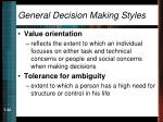 general decision making styles22