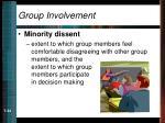 group involvement