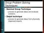 group problem solving techniques39