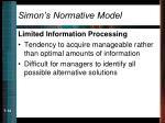 simon s normative model14