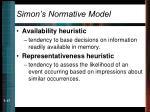 simon s normative model17