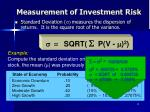 measurement of investment risk13